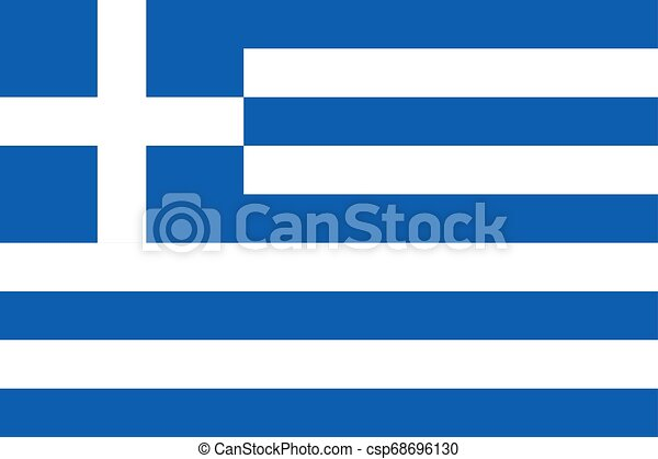 Flag of the Greece. Vector illustration EPS10 - csp68696130