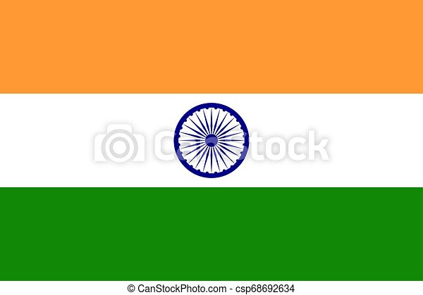 Flag of the India. Vector illustration EPS10 - csp68692634