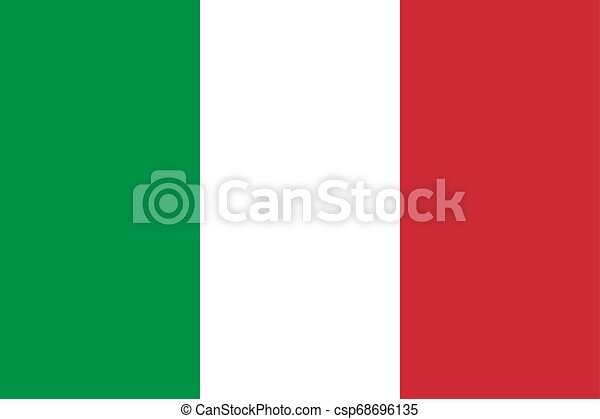 Flag of the Italy. Vector illustration EPS10 - csp68696135