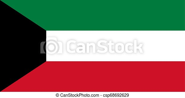 Flag of the Kuwait. Vector illustration EPS10 - csp68692629