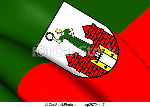 Flag of the Magdeburg, Germany. - csp28724447