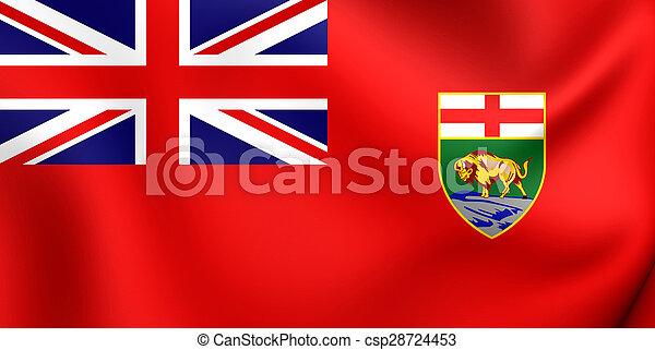 Flag of the Manitoba, Canada. - csp28724453