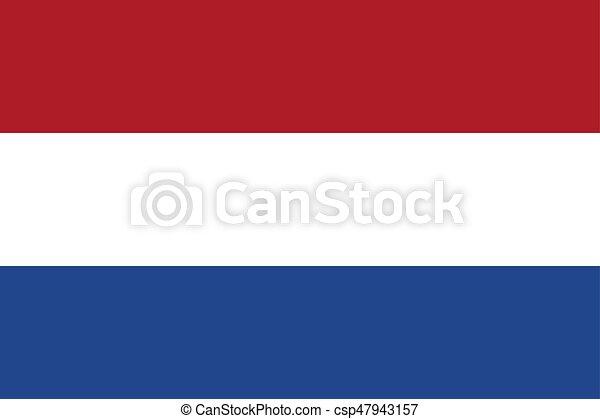 Flag of the Netherlands, vector illustration - csp47943157