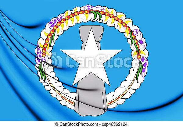 Flag of the Northern Mariana Islands - csp46362124