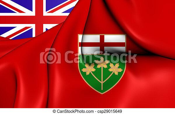 Flag of the Ontario, Canada. - csp29015649
