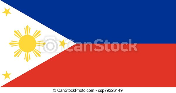 Flag of the Philippines vector illustration - csp79226149