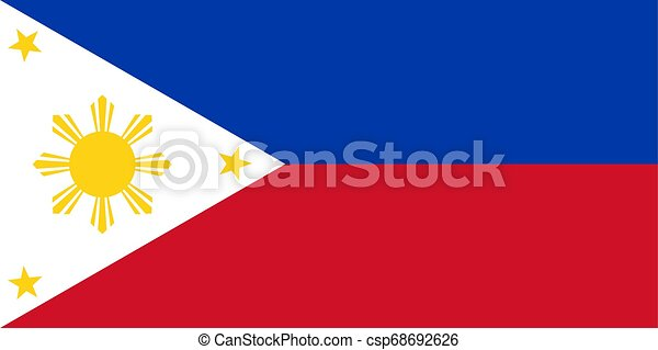 Flag of the Philippines. Vector illustration EPS10 - csp68692626