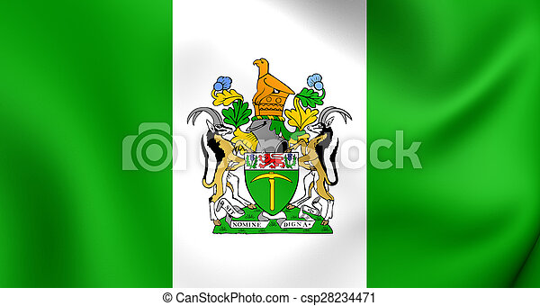 Flag of the Rhodesia - csp28234471