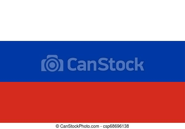 Flag of the Russia. Vector illustration EPS10 - csp68696138