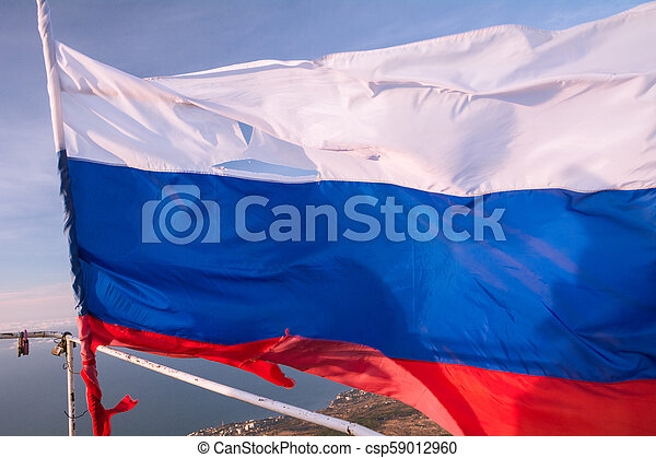 Flag of the Russian Federation in Crimea - csp59012960
