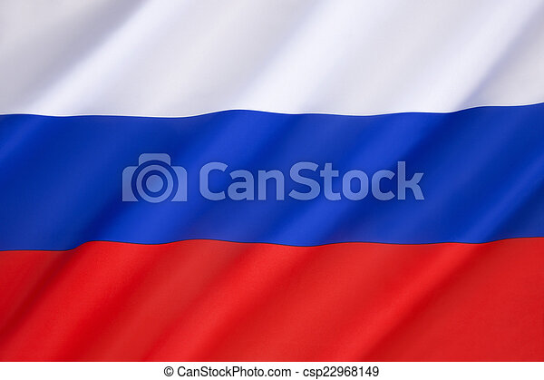 Flag of the Russian Federation  - csp22968149