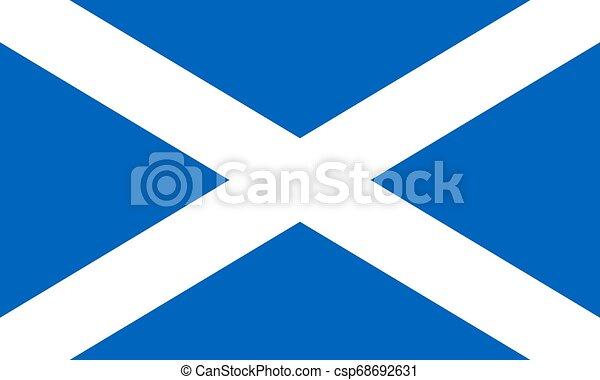 Flag of the Scotland. Vector illustration EPS10 - csp68692631