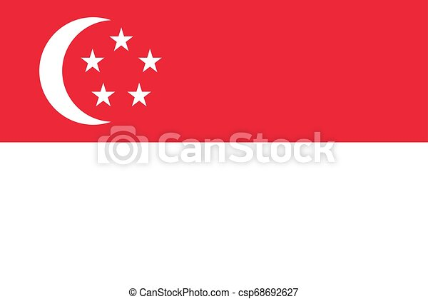 Flag of the Singapore. Vector illustration EPS10 - csp68692627