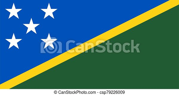 Flag of the Solomon Islands vector illustration - csp79226009
