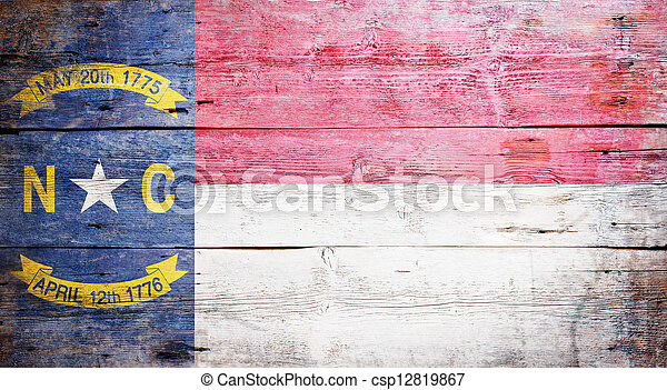 Flag of the state of North Carolina - csp12819867