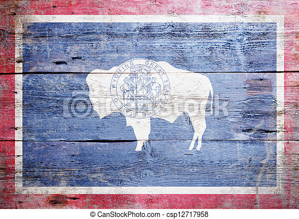 Flag of the state of Wyoming  - csp12717958