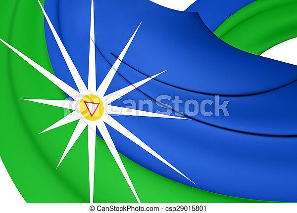Flag of the Uberlandia, Brazil. - csp29015801
