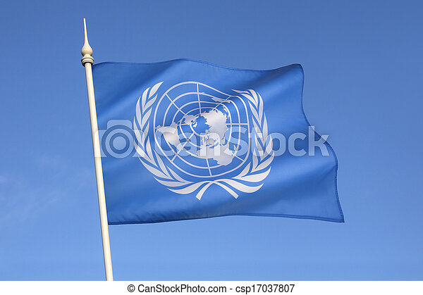 Flag of the United Nations - csp17037807
