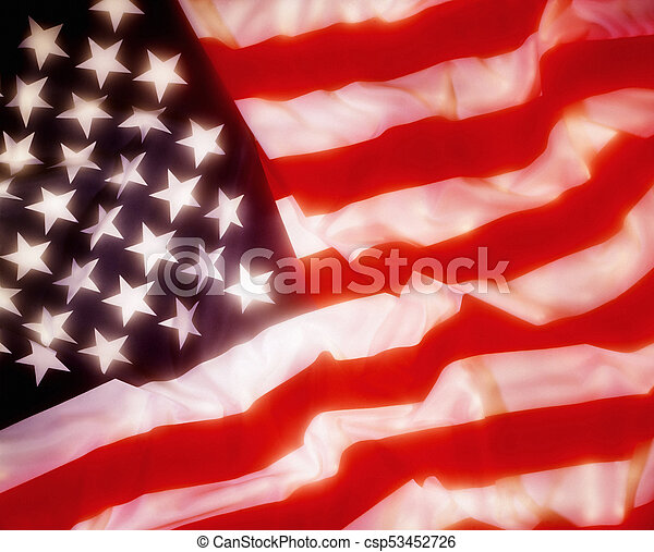Flag of the USA - csp53452726