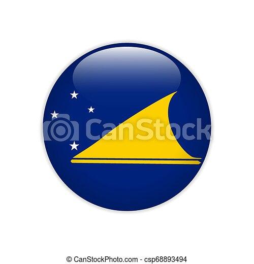 Flag of Tokelau button - csp68893494