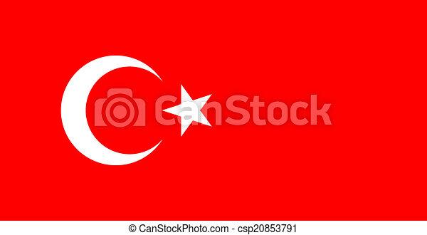 flag of Turkey - csp20853791