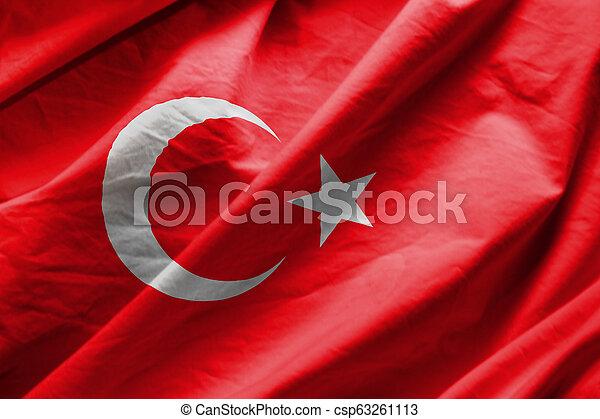 Flag of turkey - csp63261113