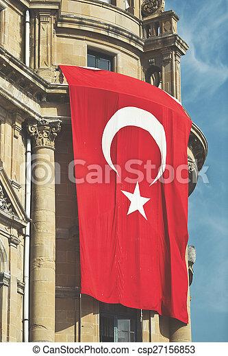 Flag of Turkey - csp27156853