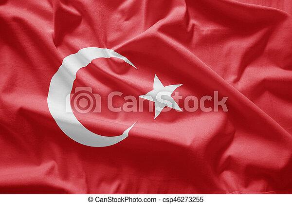 Flag of turkey - csp46273255