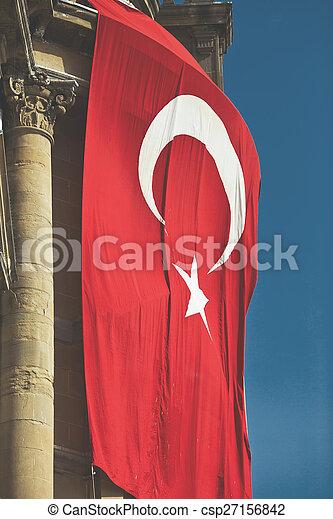 Flag of Turkey - csp27156842