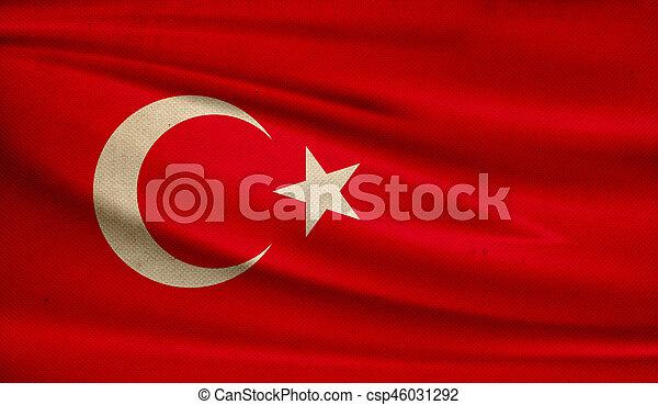 Flag of Turkey. - csp46031292