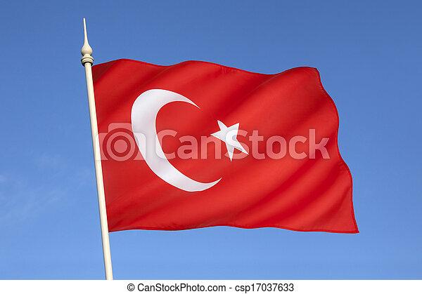 Flag of Turkey - csp17037633
