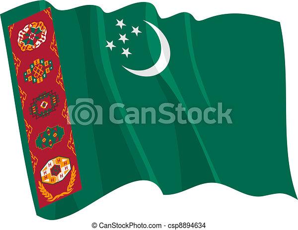 flag of Turkmenistan - csp8894634