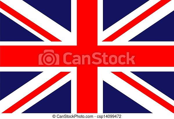 Flag of UK - csp14099472