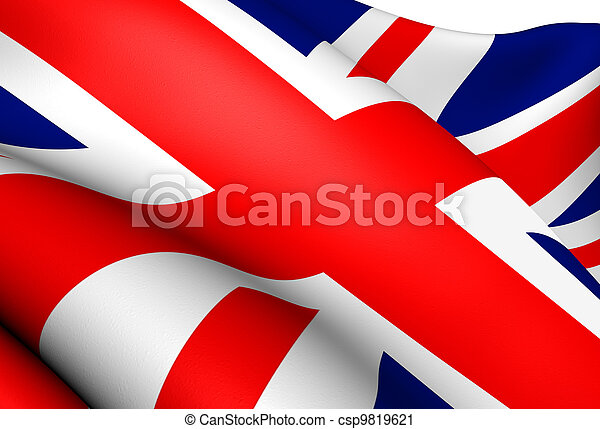 Flag of UK - csp9819621