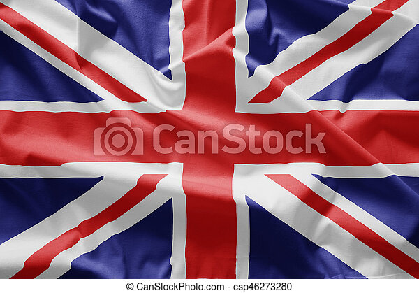 Closeup of Flag of uk