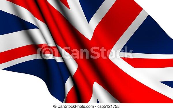 Flag of UK  - csp5121755