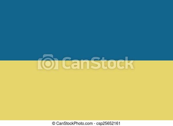 Flag Of Ukraine - csp25652161