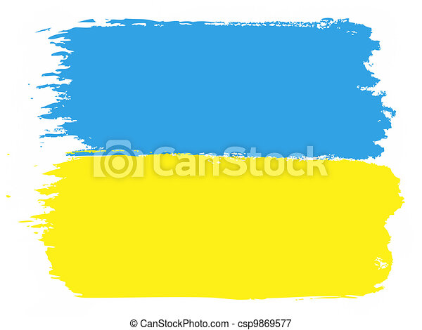 Flag of Ukraine - csp9869577
