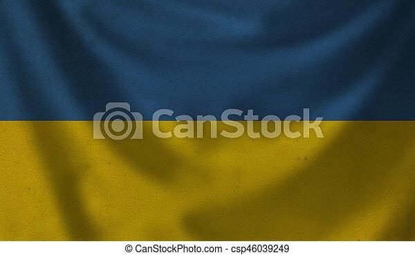 Flag of Ukraine. - csp46039249