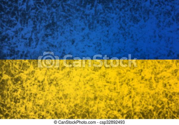 Flag of Ukraine. - csp32892493