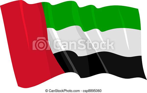 flag of United Arab Emirates - csp8895060