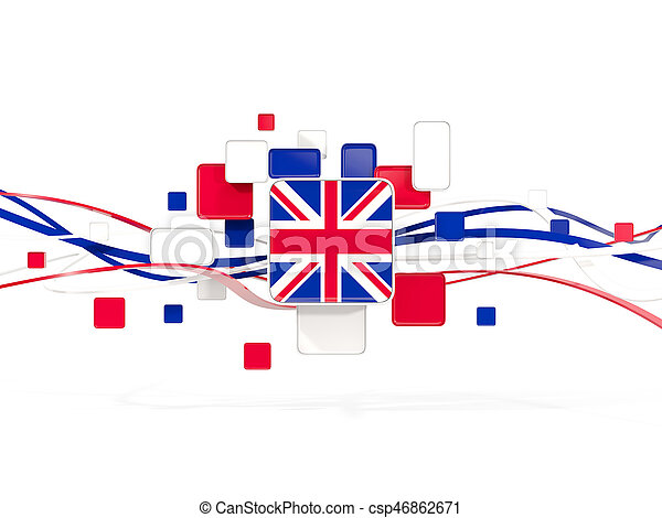 Flag of united kingdom, mosaic background with lines - csp46862671