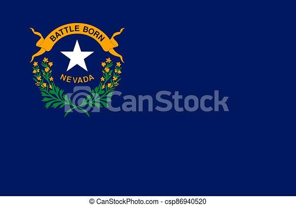 flag of USA state Nevada - csp86940520