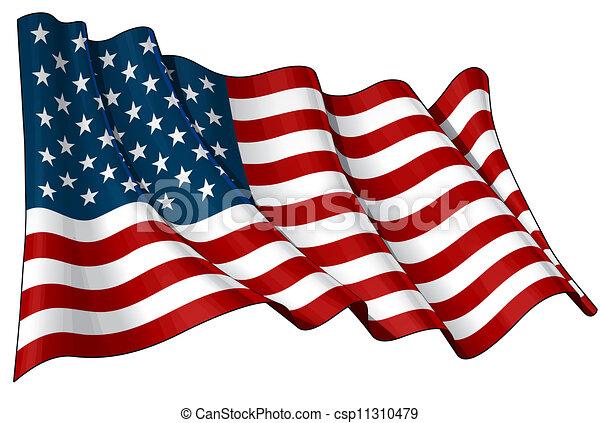 Flag of USA - csp11310479