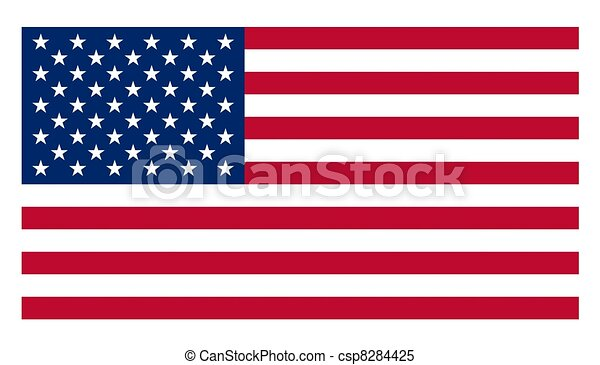 flag of USA - csp8284425