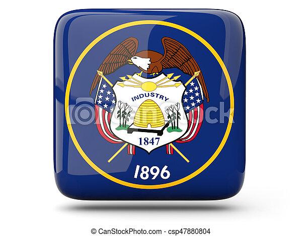Flag of utah, US state square icon - csp47880804