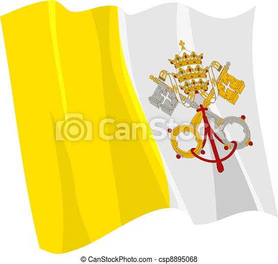 flag of Vatican - csp8895068
