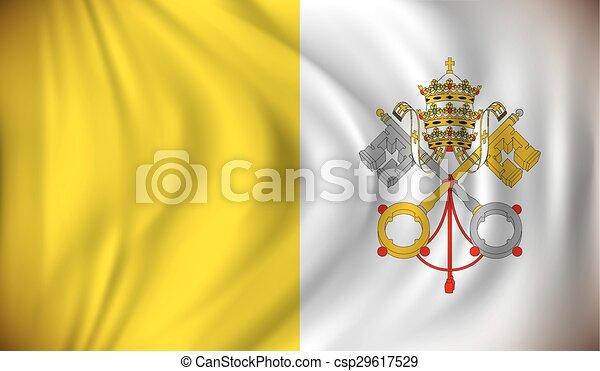 Flag of Vatican - csp29617529