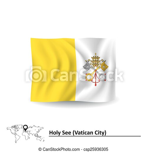 Flag of Vatican - csp25936305