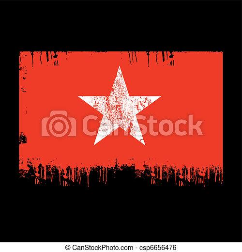 flag of vietnam - csp6656476